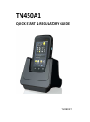 Askey TN450A1 PDA Quick start manual (20 pages)