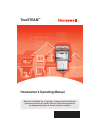 Honeywell TrueSTEAM Humidifier Homeowners operating manual (12 pages)